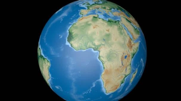 Burkina Faso extruded. Bumps shaded.