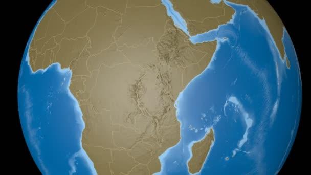 Burundi extrudierte. Beulen.