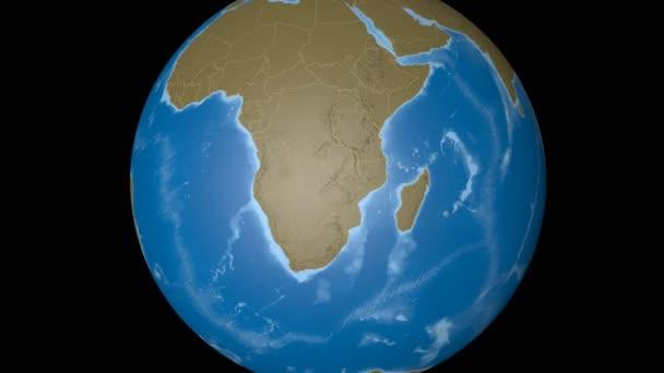 Botswana extrudiert. Beulen.