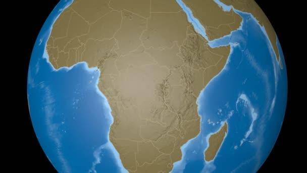 Congo Kinshasa extruded. Bumps.