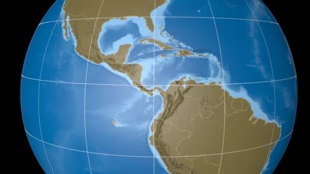 Costa Rica extruded. Bumps. Graticule.