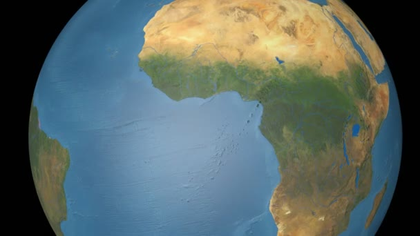 Cote Divoire extruded. Blue Marble.