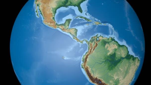 El Salvador extruded. Bumps shaded.