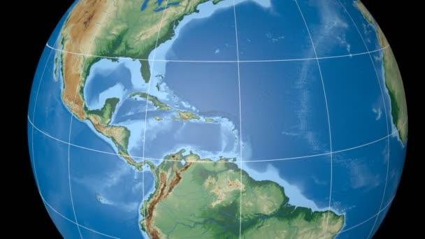 Dominikanische Republik extrudiert. Bumps schattiert. Strichplatte.