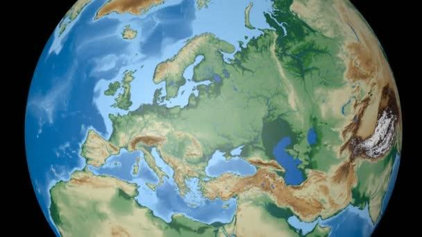 Estland extrudiert. Unebenheiten beschattet.