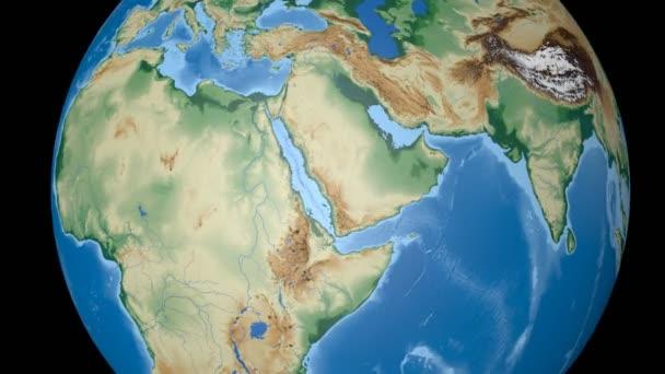 Eritrea extruded. Bumps shaded.