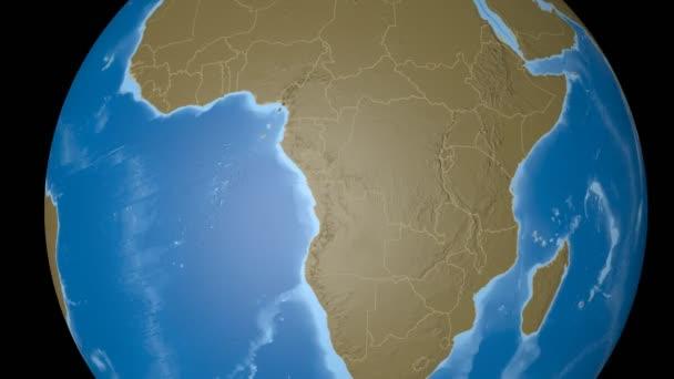 Gabon extruded. Bumps.