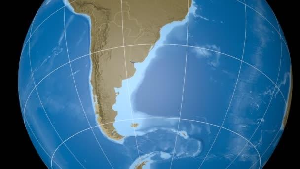 Falklandské ostrovy extrudované. Hrboly. Rastru.