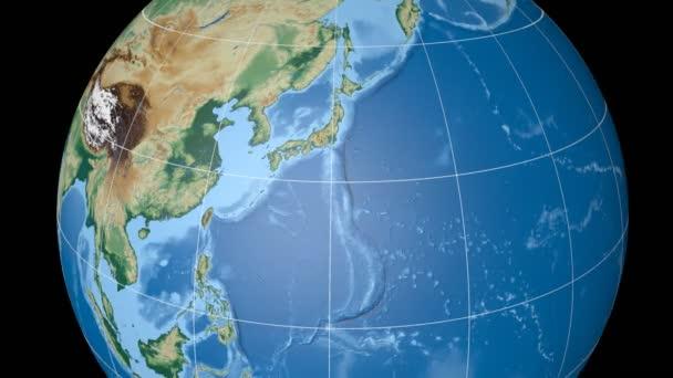 Japonsko vytlačované. Jsou zastíněné. Rastru.