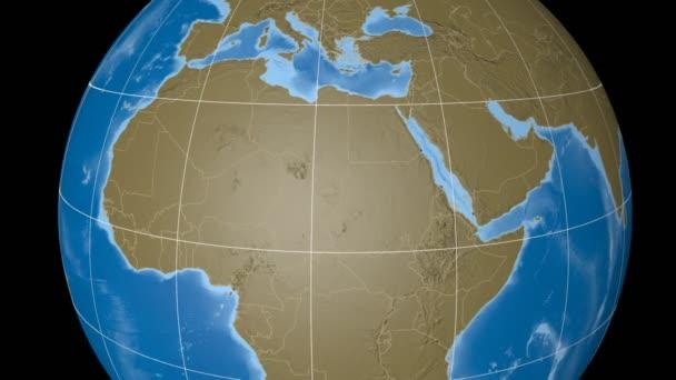 Libyen extrudierte. Beulen. Strichplatte.