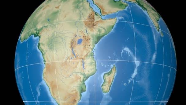 Tanzanie, extrudovaný. Hrboly šedě. Rastr