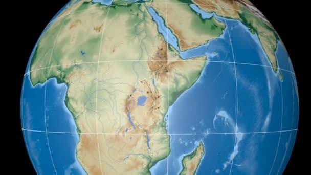 Uganda, extrudovaný. Hrboly šedě. Rastr