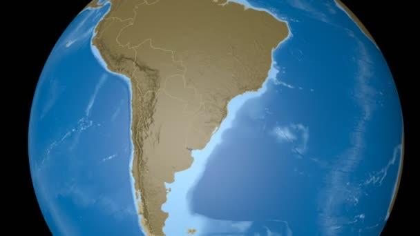 Uruguay extrudovaný. Hrboly