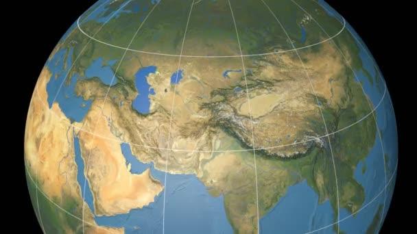 Extrudovaného Uzbekistánu. Modrý mramor. Rastr