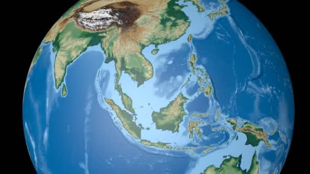 Vietnam, extrudovaný. Hrboly stínované