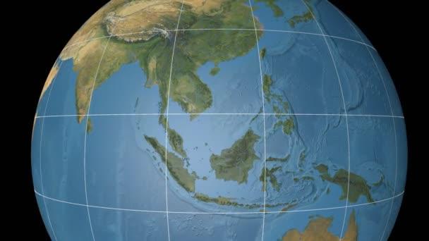 Vietnam, extrudovaný. Modrý mramor. Rastr