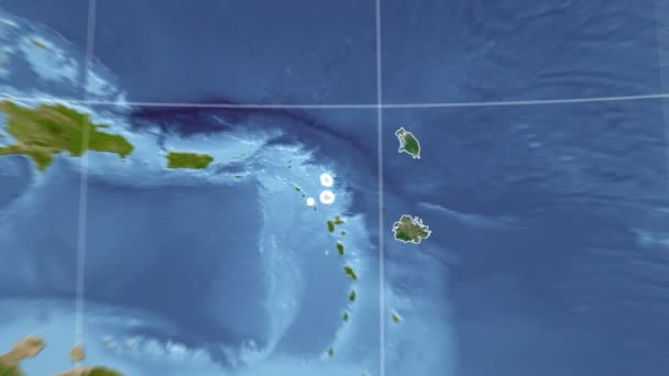 Antigua and Barbuda and Globe. Satellite
