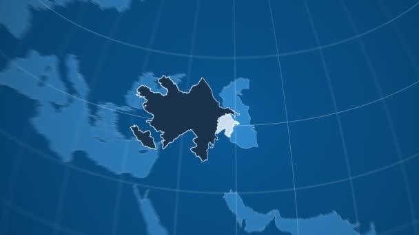 Ázerbájdžán a Globe. Tuhé látky