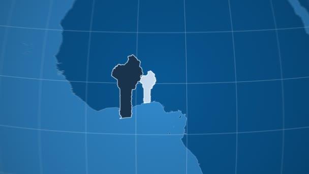 Benin a Globe. Tuhé látky