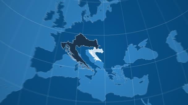 Chorvatsko a Globe. Tuhé látky