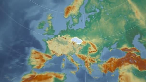 Česká republika a Globe. Reliéf