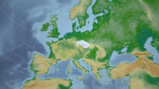 Česká republika a Globe. Hrboly stínované