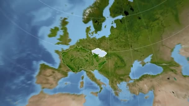 Česká republika a Globe. Satelitní