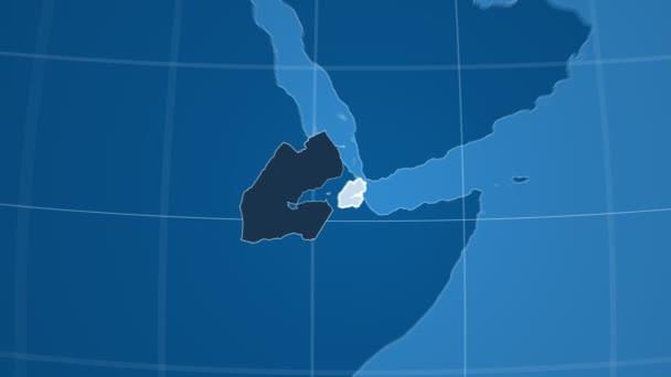 Džibuti a Globe. Tuhé látky