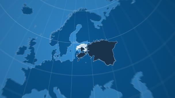 Estonsko a Globe. Tuhé látky