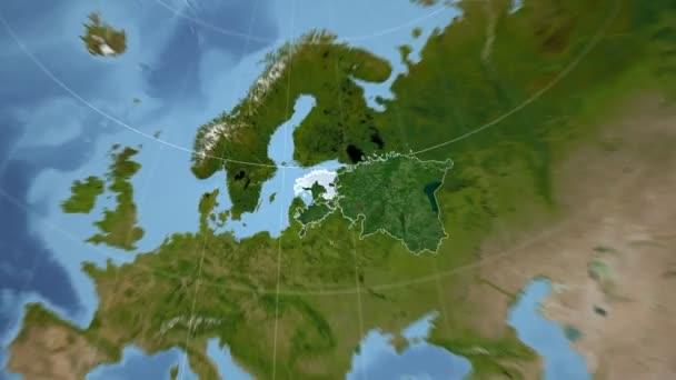 Estland und Globe. Satellit
