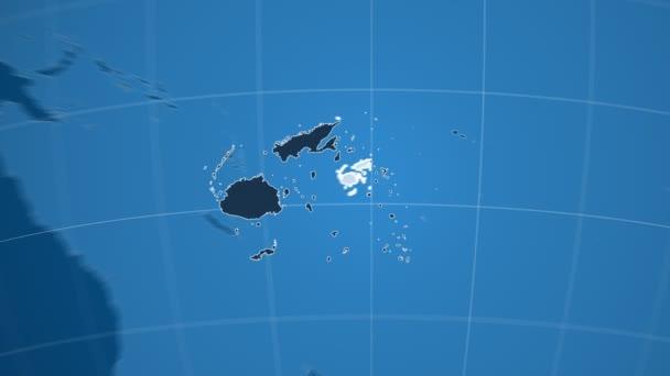 Fidži a Globe. Tuhé látky