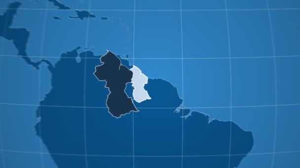 Guayana a Globe. Tuhé látky