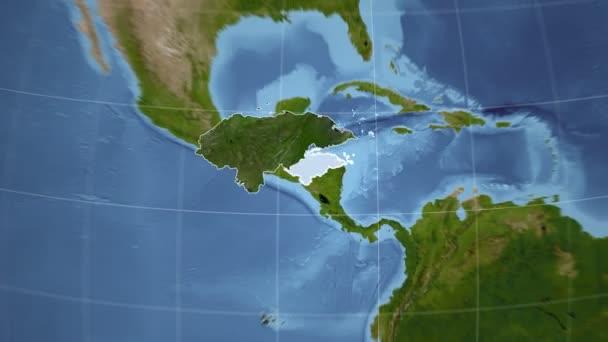 Honduras und Globe. Satellit