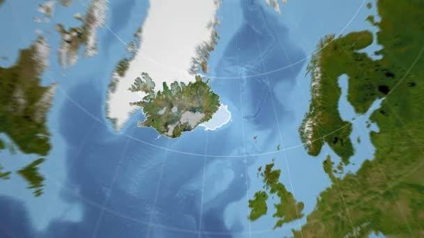 Island a Globe. Satelitní