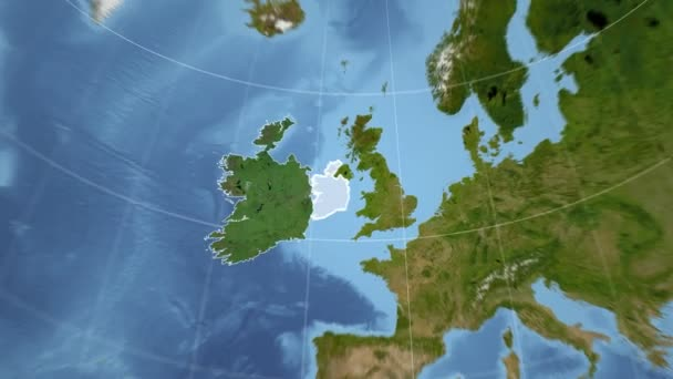 Satellite Map Of Ireland.Ireland And Globe Satellite Stock Video C Yarr65 111165132