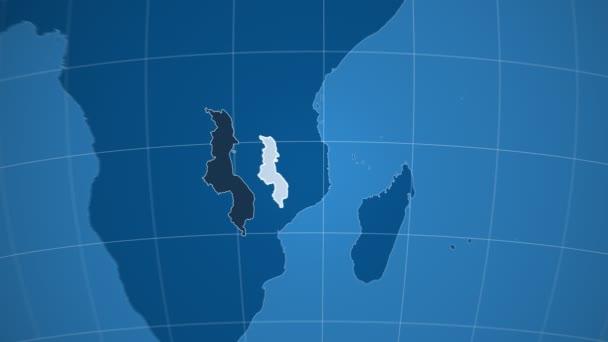 Malawi a Globe. Tuhé látky