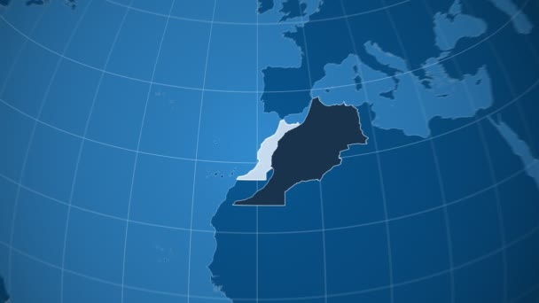 Maroko a Globe. Tuhé látky
