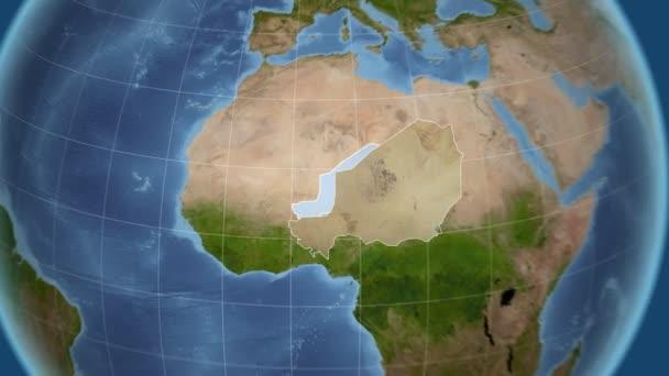 Niger und Globe. Satellit