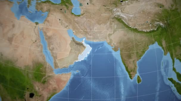 Omán a Globe. Satelitní