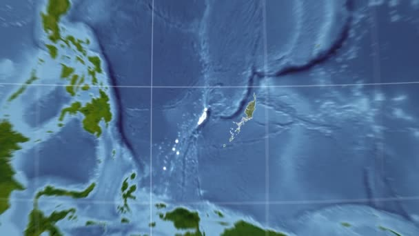 Palau und Globe. Satellit