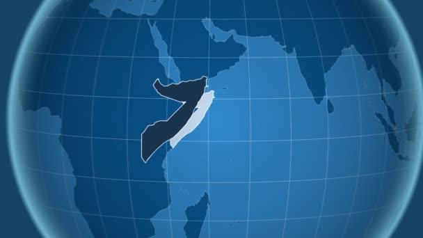 Somálsko a Globe. Tuhé látky
