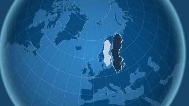 Švédsko a Globe. Tuhé látky