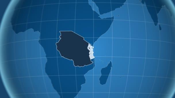 Tanzanie a Globe. Tuhé látky