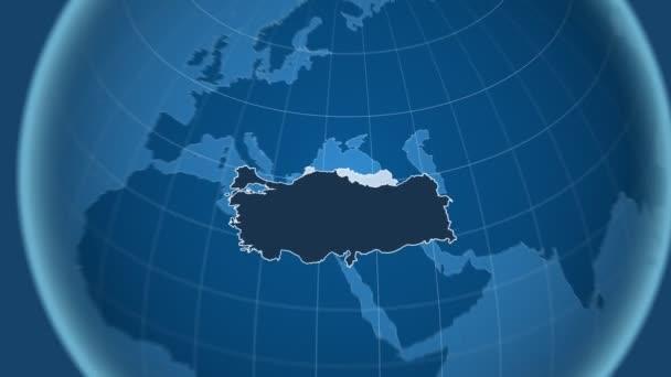 Turecko a Globe. Tuhé látky