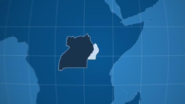 Uganda a Globe. Tuhé látky