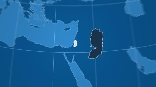 Západní břeh Jordánu a Globe. Tuhé látky