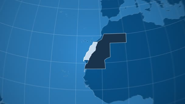 Západní Sahara a Globe. Tuhé látky