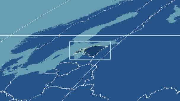 Estonia - 3D tube zoom (Mollweide projection). Solids