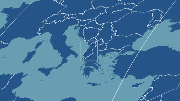 Albania - 3D tube zoom (Mollweide projection). Solids