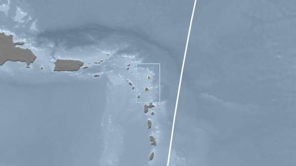 Antigua and Barbuda - 3D tube zoom (Kavrayskiy VII projection). Bumps